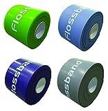 Sanctband Flossband - Cintas de compresión de 5cm (estándar) y 206cm de longitud / en cuatro grosores diferentes, mittel und extra stark / Level 2+4 / 1,30mm+1,80mm