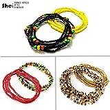Tuoshei 6 Piece Waist Bead Se Belly Beads African Waist Bead Body Chains Beaded Belly Chain Bikini Jewelry for Woman Girl (6 PCS) (style 1)