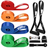 Resistance Bands Set - Walito Exercise Resistance Band with Handle, Pull Up Assist Bands for Door Anchor, Elastic Bands for Exercise, Muscle Training, Physical Therapy, Home Workouts
