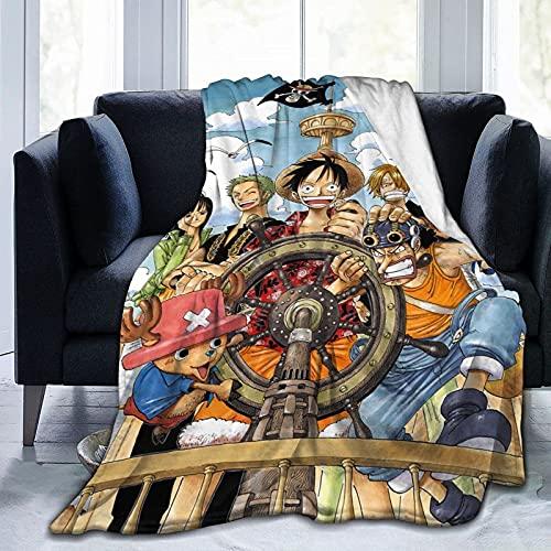 Manta de una Pieza de Anime para Todas Las Estaciones, cálida, Ligera, de Viaje, térmica, ponderada, Mantas de Playa para sofá Cama, sofá de 60 'x 50'