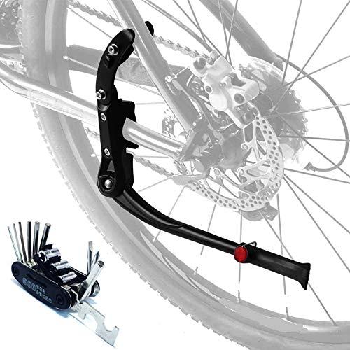 Qsnn Fahrradständer, Höhenverstellbar Universal Hinterbauständer, MTB Fahrrad Ständer mit Rutschfester Gummiständer für 24 26 27.5 28 29 Zoll Mountainbike, Rennrad, Klapprad -Schwarz mit Werkzeug