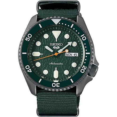 Reloj Seiko 5 Sports SRPD77K1 Hombre Acero Verde Automático
