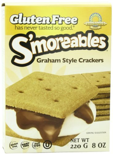Kinnikinnick Gluten Free S'moreables Graham Style Crackers, 8 Ounce (Pack of 6) by Kinnikinnick
