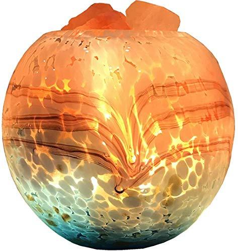 WNZL Himalaya Lampe de sel, Changer en Cristal de sel Lampes avec Glass Container Peint à la Main pour Air purifiant, décoration pour la Maison, Cadeaux de Vacances Chambre, Salon