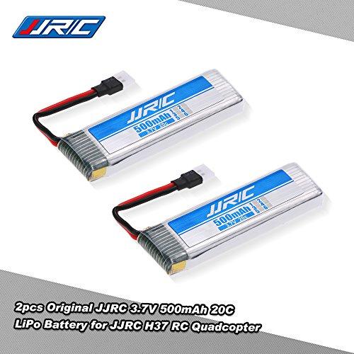 2pcs JJRC 3.7V 500mAh 20C LiPo Batterie Akku für JJRC H37 RC Quadrocopter Drohne