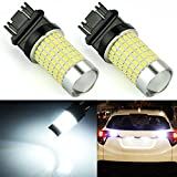 JDM ASTAR Extremely Bright 144-EX Chipsets 3056 3156 3057 3157 LED Bulbs with Projector for Backup Reverse Lights, Xenon White