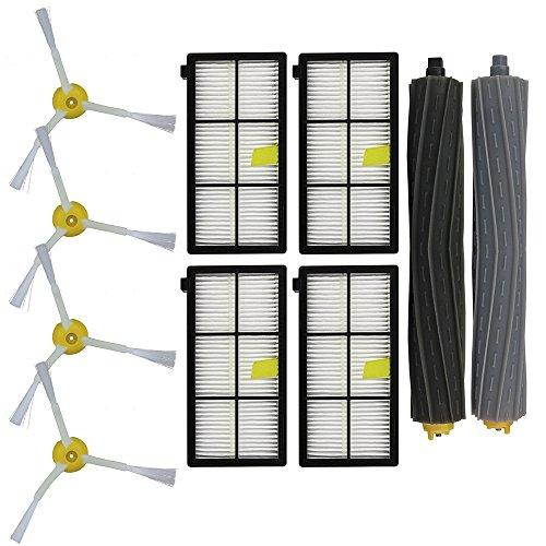 Funien Filtro HEPA, Juego de Accesorios de Robot de Barrido Combinado para iRobot Roomba 800 866 876 900