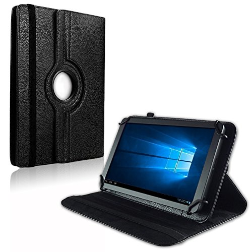 NAUC Tablet Hülle für XORO TelePAD 96A3 Tasche Schutzhülle Hülle Schutz Cover Bag Etui, Farben:Schwarz