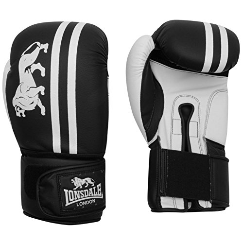 Lonsdale London Club Sparring Boxing Gloves Gym Fitness Bag Sparring Gloves Blue/White 10 oz