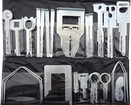 36 Pièces outils de déverrouillage pour démontage radio vW audi skoda ford opel, fiat gPS
