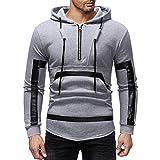 Zottom Mode Herbst Winter Männer Casual Printed Hooded Sweatshirt Zip Pocket Tops