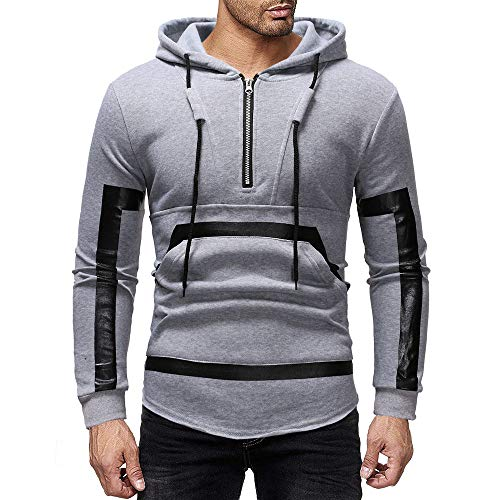 Herren Pullover Sweatjacke Hoodie, ITISME 2019 Slim fit Taschen Lose Streetwear Herren Herbst Winter Vintage Zipper Hooded Print Langarm Outdoor Mantel Sport Fitness Sale