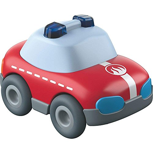 HABA Kullerbu Red Fire Truck Car with Momentum Motor - Can be Enjoyed with or Without The Kullerbu Track System - Ages 2+