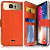 KARYLAX Orange Wallet Case (Ref. 3-A) for Archos Access 50