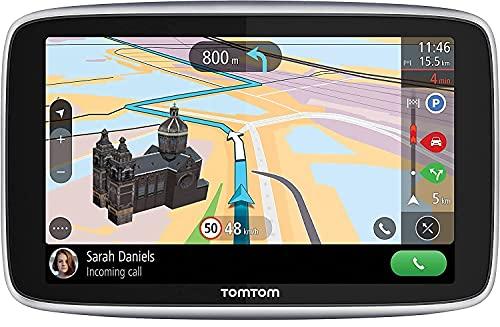 TomTom Navigatore Satellitare per Auto GO Premium 5 Traffico, Tutor e Autovelox, Mappe Mondo, Aggiornamenti Tramite WiFi, Chiamate in Vivavoce, Supporto Reversibile Magnetico, 5 Pollici