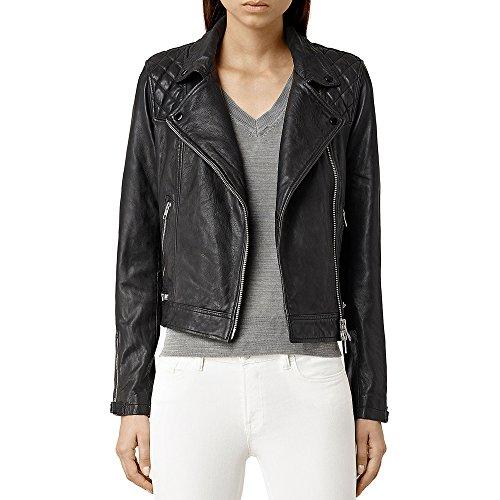 DashX Jasmine Women's Leather Jacket Brown,XX-Large
