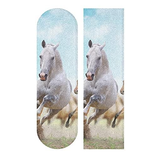 Running Hore - Cinta de agarre para monopatín, cinta de agarre para patineta, papel de lija para patineta, escaleras, pedal, silla de ruedas, paso, 1 hoja