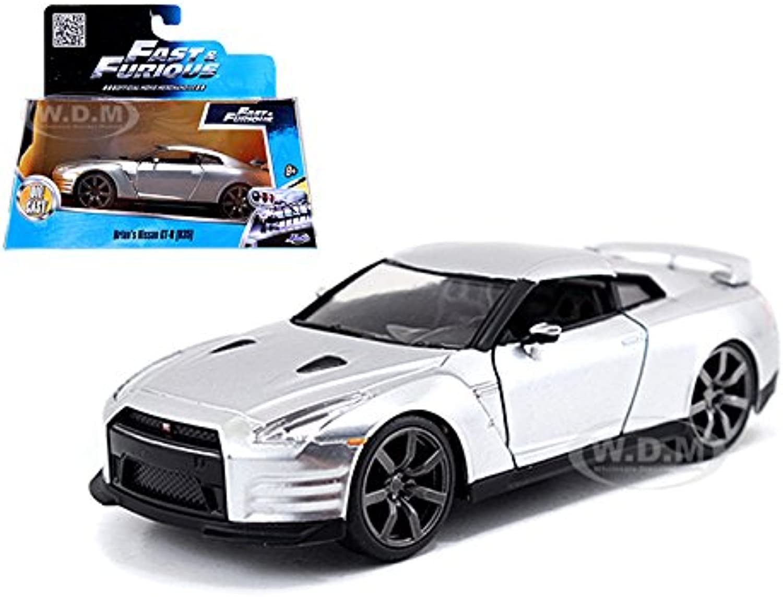 Brian's Nissan GTR R35 Silver Fast & Furious Movie 1 32 by Jada 97383