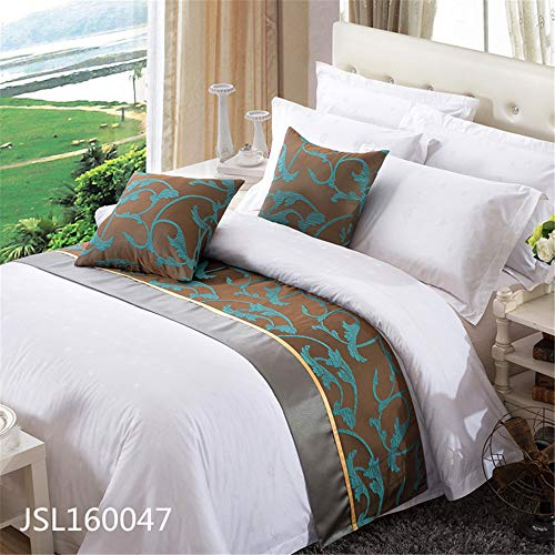QCQZP Letto Runner Forniture alberghiere Forniture alberghiere alberghiere Tessili Tessili per Hotel Bed Tail Flag, 50 * 240
