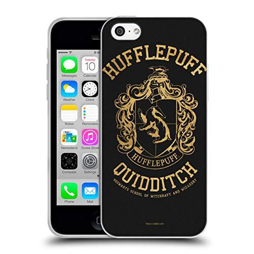 Head Case Designs Oficial Harry Potter Hufflepuff Quidditch Deathly Hallows X Carcasa de Gel de Silicona Compatible con Apple iPhone 5c