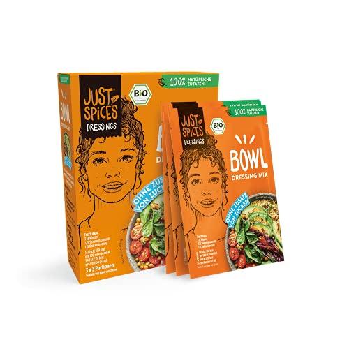 Just Spices Bio Bowl Dressing Mix I Einfach, Lecker, Schnell I 100% Natürliche Zutaten & 100% BIO I 30 Stück Vorteilspack