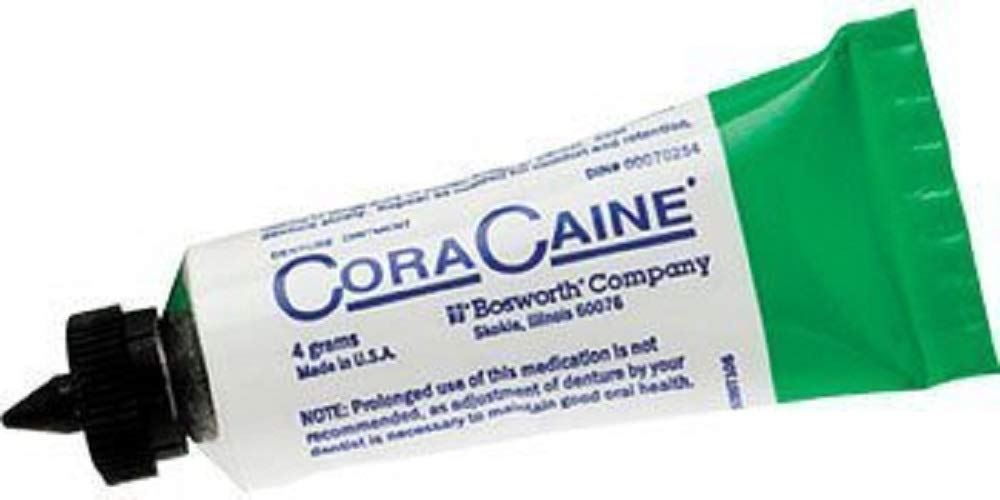 Bosworth 16621 Cora-Caine Denture Adhesive Ointment g 4 gm - Raleigh Mall 36 discount