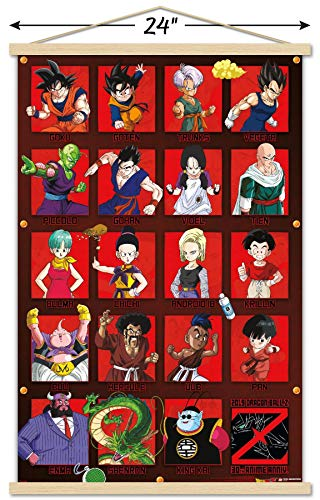 Trends International Dragon Ball Z - Anniversary Wall Poster with Wooden Magnetic Frame, 22.375