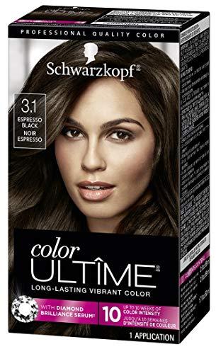Schwarzkopf Color Ultime Hair Color Cream, 3.1 Espresso Black (Packaging May Vary)