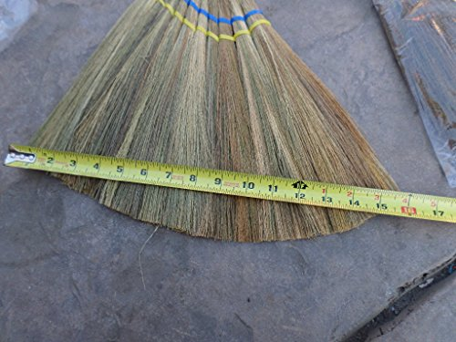 2x lot of 3 pieces Vietnamese soft fan straw broom with plastic wrap straw handle (chổi lúa) 40 inch 6 brooms total