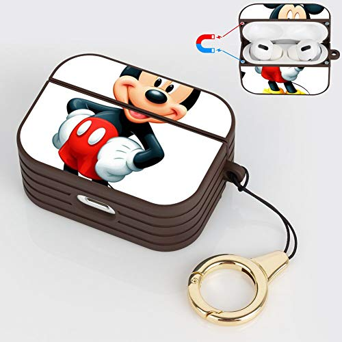 DISNEY COLLECTION Carcasa rígida de plástico resistente a los golpes para AirPods Pro, compatible con AirPods Pro, color marrón