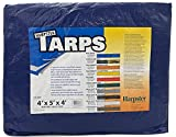 4 Ft. X 5 Ft. X 4 Ft. Standard Duty Blue Poly Pallet Cover   5 Sided Tarp