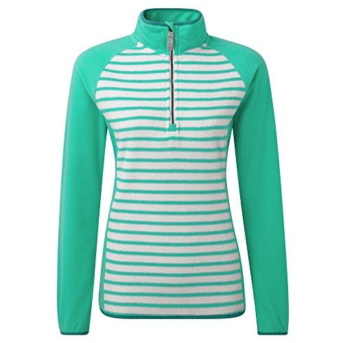 Tille Half Zip Micropolaire Femme Top Vert grün - Spear Mint/Dove Green Size 10