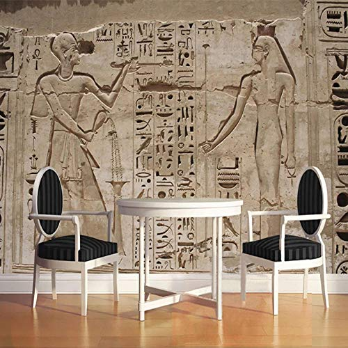 Tamaño Personalizado Amy Mural Wallpaper 3D Estéreo Pirámide Egipcia Antigua Pintura De Pared De Piedra Estilo Europeo Restaurante Retro 3D Fresco