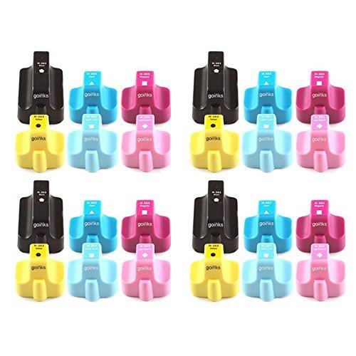 4 Go Inks Tintenpatronen für HP 363 (XL), kompatibel mit HP Photosmart Drucker, 24 Stück