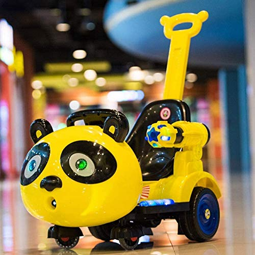 Autoks Electric Car Kids Panda Cartoon Car Baby Rocking Cradles Kids Rc Car Remote Control Toys Can Sit People Slip Baby Motorcycle Boys and Girls Children Gifts Kids Toy Educational Toys