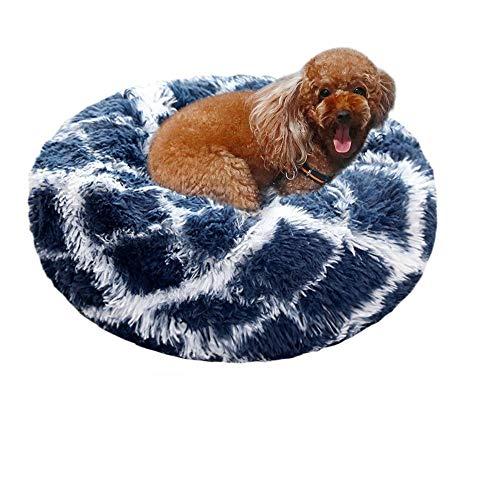 laamei Cama Redonda para Mascotas Deluxe para Gatos y Perros Pequeños y Medianos con Cojín Suave para Nido de Donut Cama de Dormir Peluda Cueva Lavable para Cuatro Estaciones