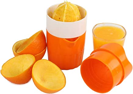 Hand Orange Juicer Squeezer Manual with Strainer and Container, 2 Cups