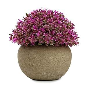 Silk Flower Arrangements Epartswide Artificial Mini Plastic Potted Plants Topiary Shrubs Fake Plants for Office Bathroom Farmhouse Decoration