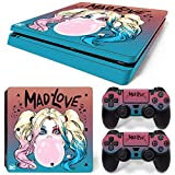 PS4 Slim Whole Body Vinyl Skin Sticker Decal Cover for Playstation 4 Slim System Console and Controllers - Mad Love
