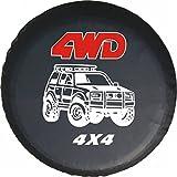 LITTOU Universal rueda de repuesto para 4 WD 4 x 4 Spot caso protector Para Tire Cover For Trailer, RV, SUV (16 'para Diámetro 29 '' - 31 '')