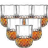 Whiskybecher set,Transparent aus Bleikristall,Schwere Scotch Verkostungsglas auf dem Markt,Elegante ergonomische Old Fashioned Nosing Tumblers ,Perfekt für zu Hause, Restaurants,210ml-6-teiliges Set