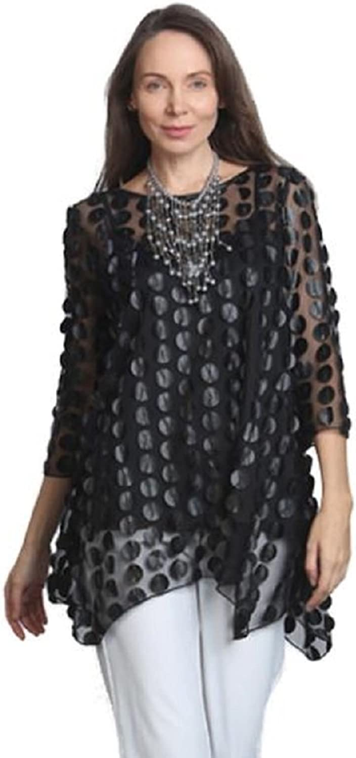 IC Collection Tunic in Black  9960TBLK