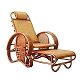 Natural bambú - Rota Mimbre de Silla de salón/sillone reclinable/Chaise Longue/Silla...