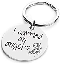 Women Sympathy Gift Mom to Be Gift in Memory of Loved One I Carried an Angel Remembrance Jewelry Tribute to Angel in Heaven Keepsake Personalized Memorial Keyring for Her