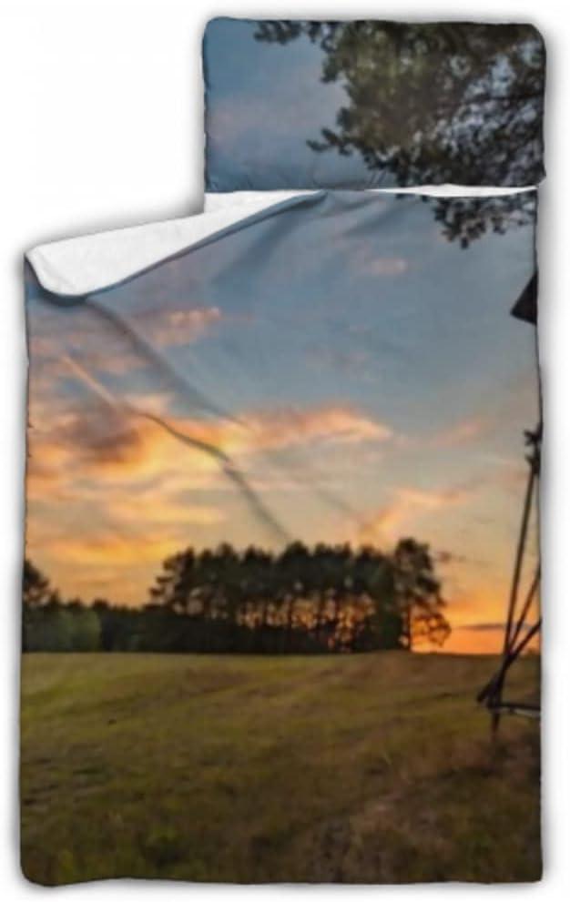 HJSHG Kids Sleeping Bag Deer Stand Forest Tree Time sale Nap Beside Field Great interest