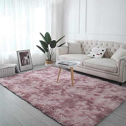AMCER Alfombra Suave 200x310cm, Alfombra Dormitorio, Lavable Rectangular, para salón Dormitorio baño sofá Silla cojín - Rosa
