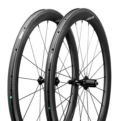 ICANIAN AERO 50 Superlight Bike Wheels 1357g Carbon Wheels Road Bike 50mm Deep Clincher Tubeless...