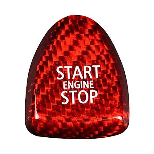 zhuzhu Botón de Arranque del automóvil Reemplazar la Cubierta Parada Ajuste para -BMW Mini F54 F55 F56 F57 F60 (Color Name : Red)