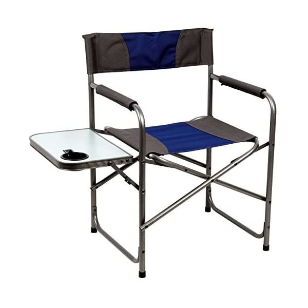 Portal Compact Steel Frame Folding Director's Chair Portable Camping Chair...