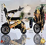 7 Colors (XL) EAONE No.1D9X, Best Rated Exclusive Folding Lightweight Motorized Electric Wheelchair, All Terrain,500W Motors, Heavy-Duty, Portable Electric Wheelchair (21.5'' seat Width)